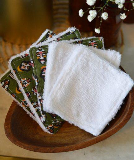 lingette lavable démaquillante lot de 5 fabriquée en france