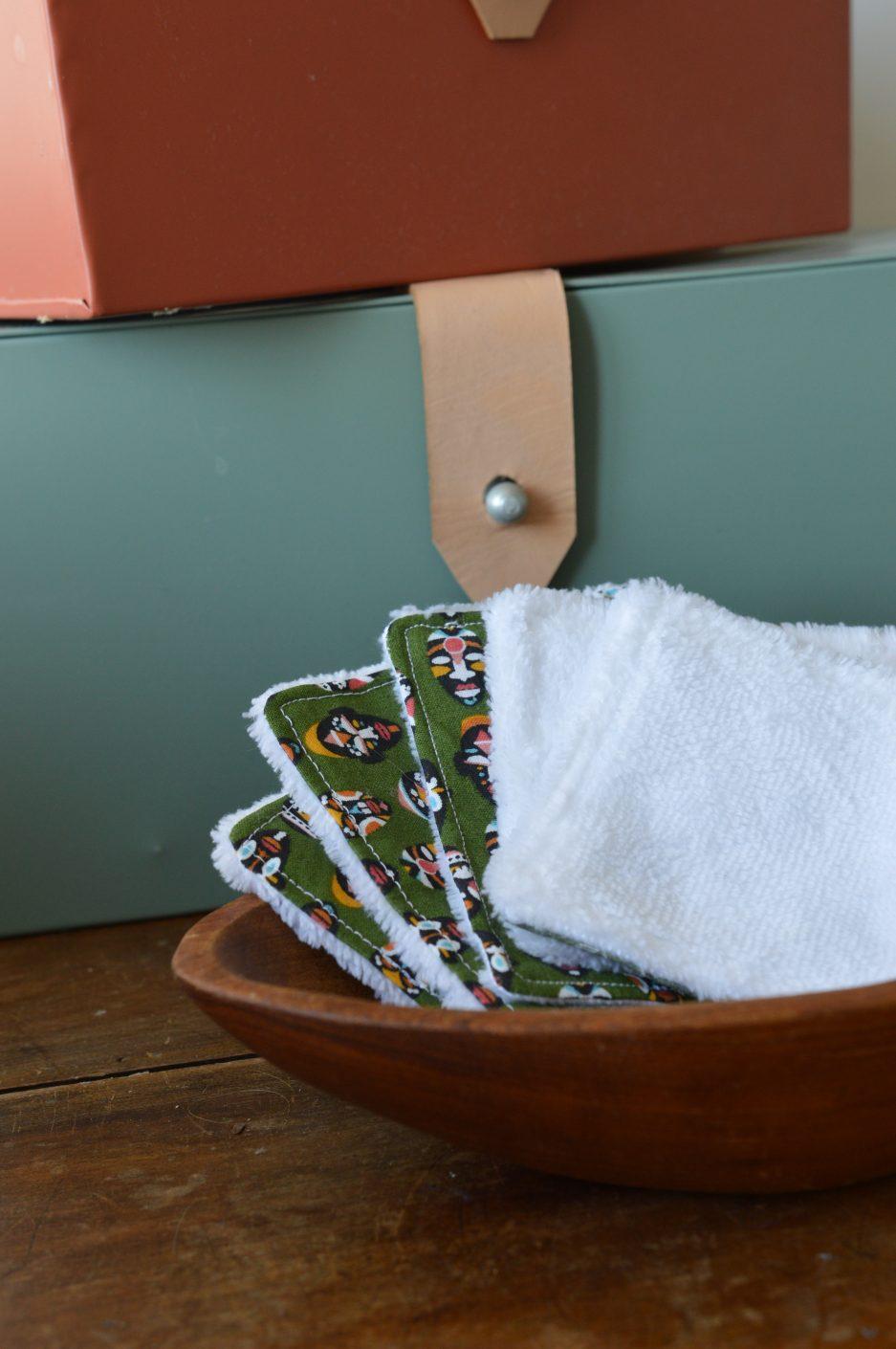 lingette lavable lot de 5 fabriquée en france