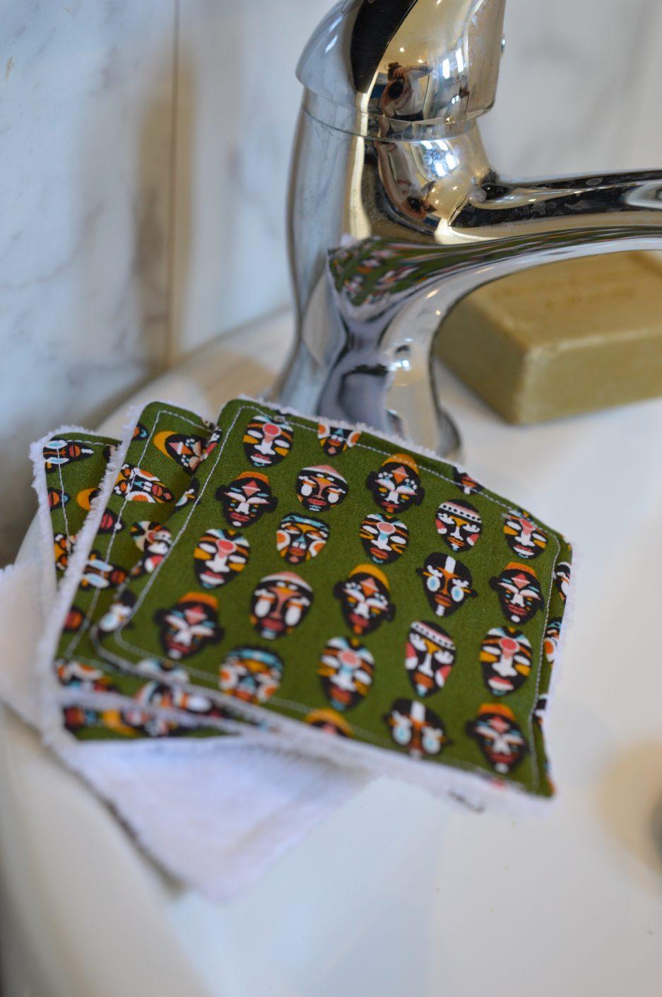 utilisation de la lingette lavable