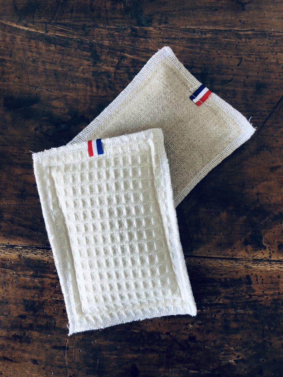 éponge lavable réutilisable fabriquée en france