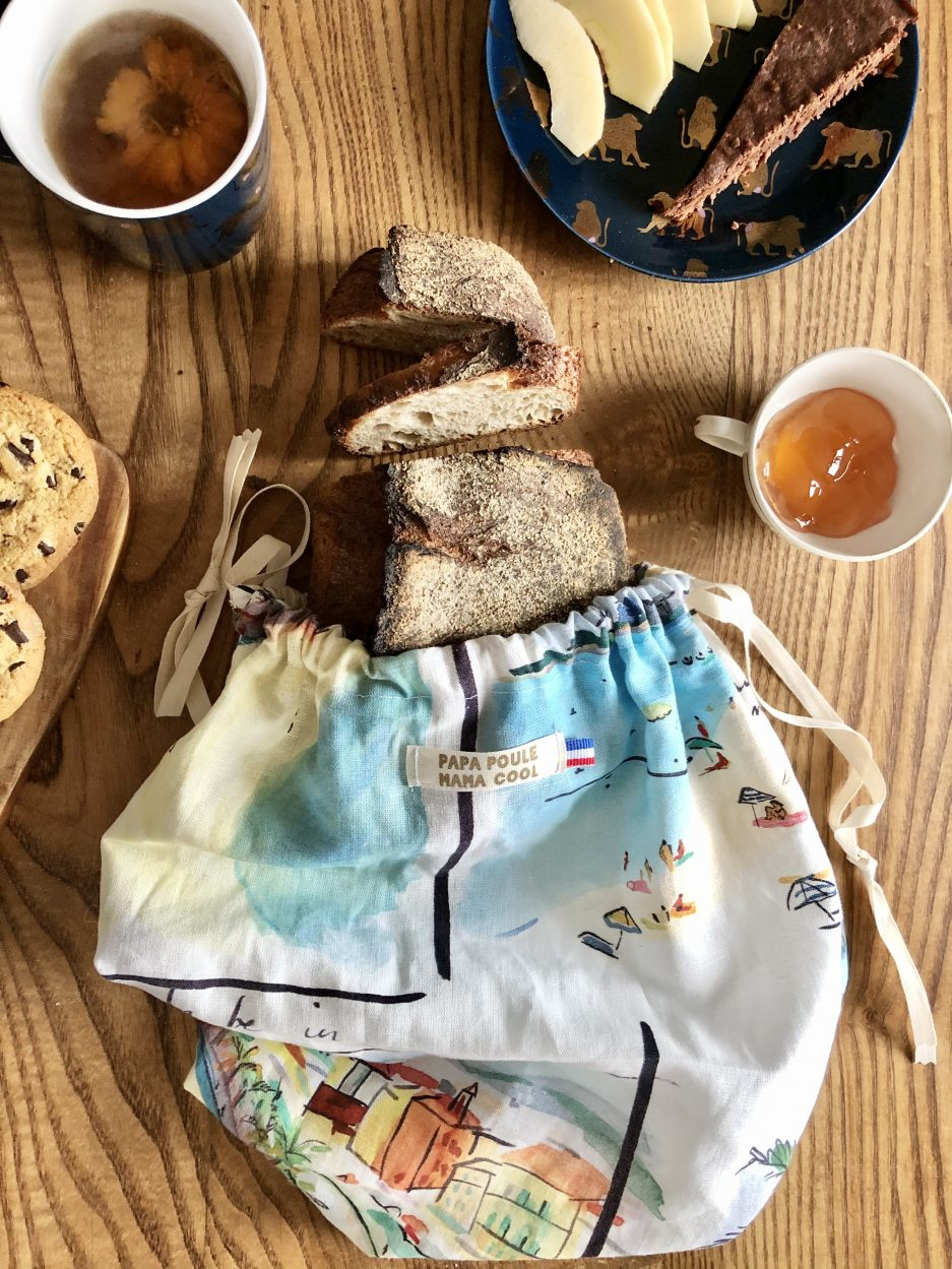 sac à pain pour conserver une miche de pain