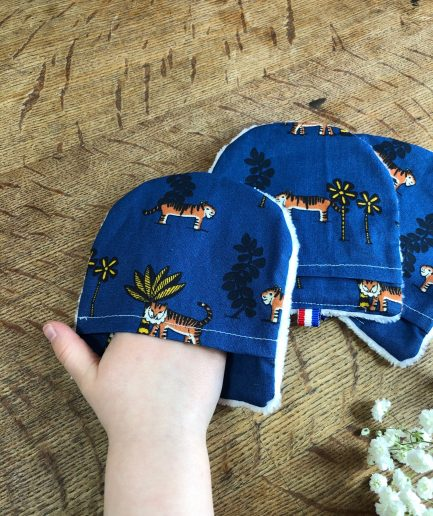 kit 3 gants démaquillants lavables