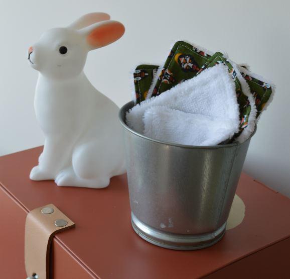 lingette lavable pour bébé lot de 5 fabriquée en france