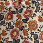 vintage orange fleurs